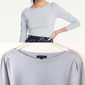 Ann Taylor Boatneck Puff Shoulder Sweater - XXL -